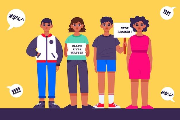 Schwarzes leben ist wichtig für menschen