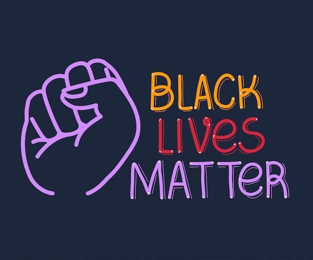 Schwarzes leben ist wichtig mit der faust
