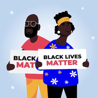 Schwarzes leben ist wichtig mit plakaten