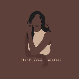 Schwarzes leben ist wichtig poster