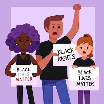 Schwarzes leben ist wichtig