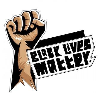 Schwarzes leben materie illustration t-shirt design
