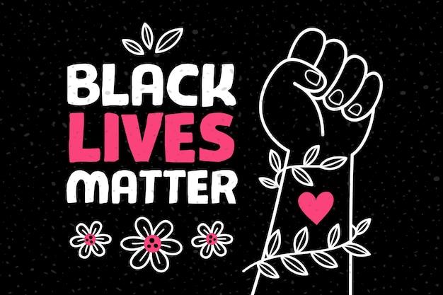 Schwarzes leben materie illustriertes thema