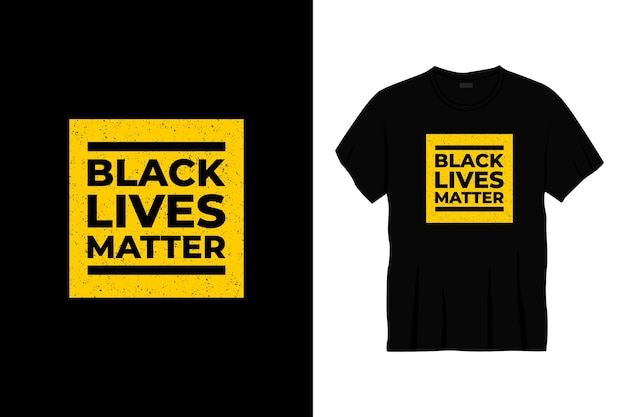 Schwarzes leben materie typografie t-shirt design.