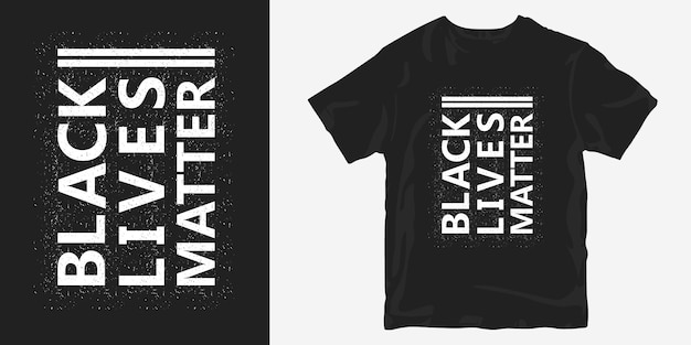 Schwarzes leben wichtig t-shirt design kurzer slogan über george floyd