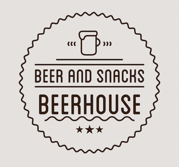Schwarzes logo bierhaus label vorlage.
