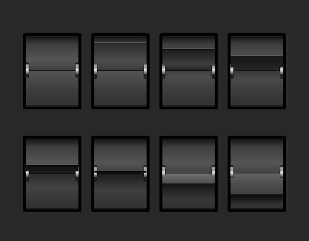 Schwarzes mechanisches panel