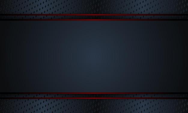Schwarzes metall mit roten linien hintergrund. vektor-illustration. komplett neues design für ihr unternehmen.