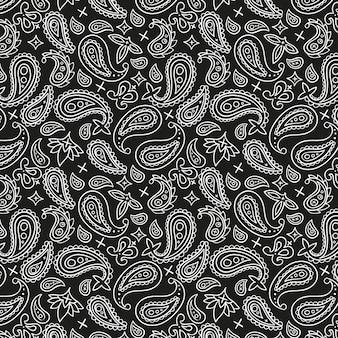Schwarzes paisley-bandana-muster