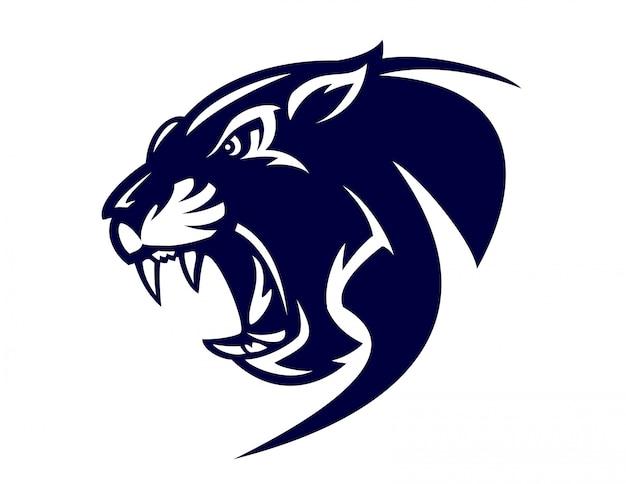 Schwarzes panther-logo