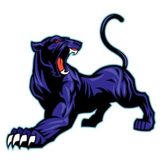 Schwarzes panther-maskottchen