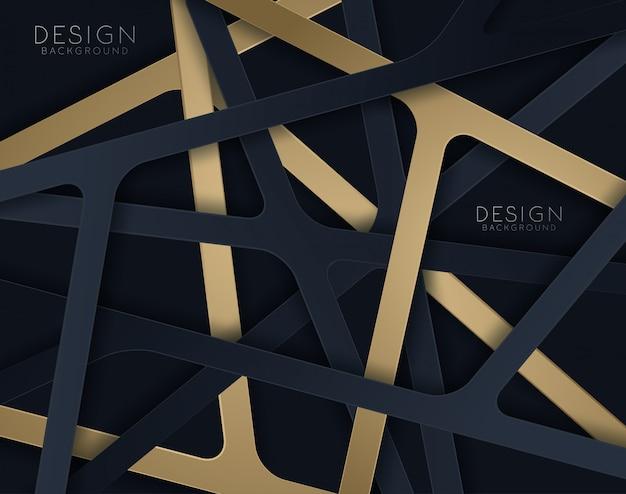 Schwarzes papier geschnitten hintergrund. abstrakte realistische papercut-dekoration