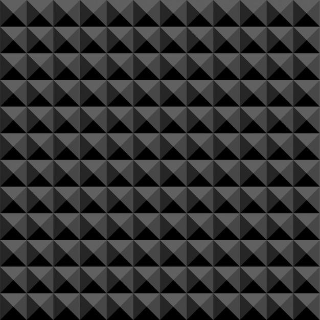 Schwarzes polygonales abstraktes nahtloses muster