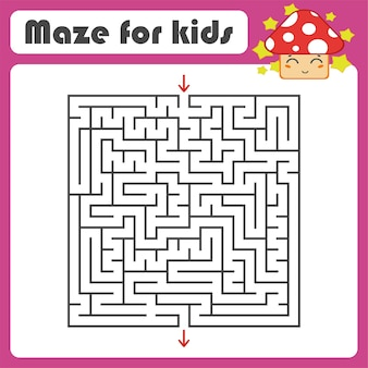 Schwarzes quadrat labyrinth