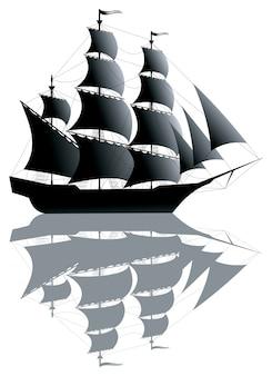 Schwarzes schiff