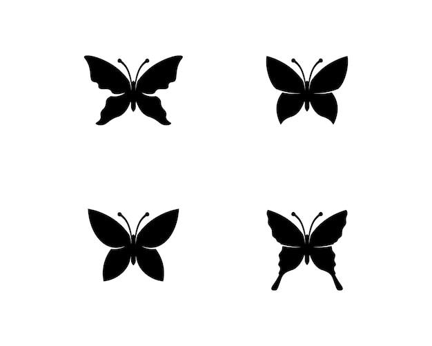 Schwarzes schmetterlingsset