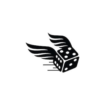 Schwarzes schnelles würfel-logo