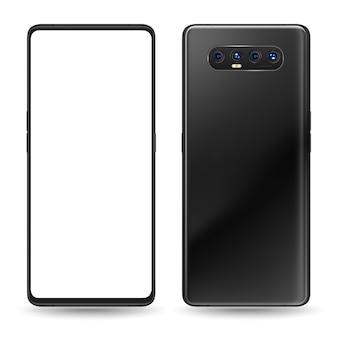 Schwarzes smartphone zwei gesichter