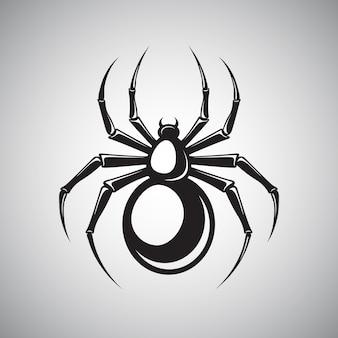 Schwarzes spinnenemblem