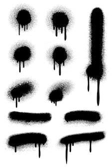 Schwarzes sprühfarbenset