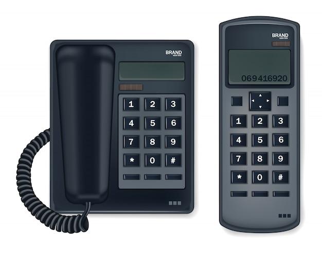 Schwarzes telefon stationär