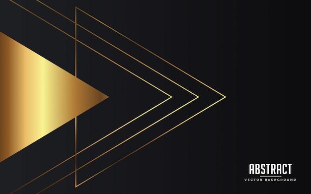 Schwarzes und goldabstrakter geometrischer hintergrund geometrisch