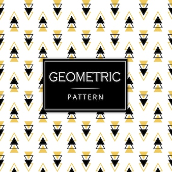 Schwarzes und goldenes geometrisches muster memphis