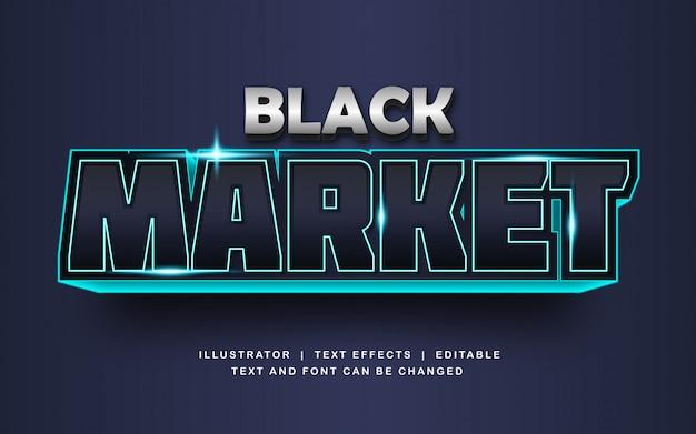 Schwarzmarkt-schrifttext-effekt