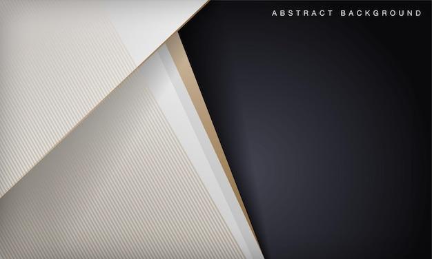 Schwarzweiss-abstrakter luxushintergrund mit goldenen linien