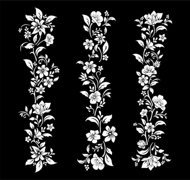 Schwarzweiss-blumenausschnitt design