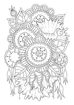 Schwarzweiss-blumenillustration malvorlagen