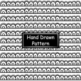 Schwarzweiss-hand gezeichnetes muster