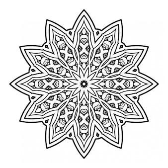 Schwarzweiss-mandalaentwurf mit verzierung