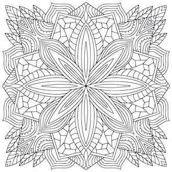 Schwarzweiss-mandalahintergrund