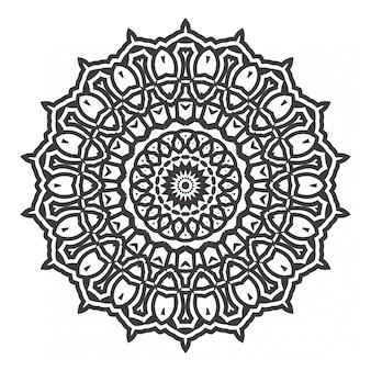 Schwarzweiss-mandalas malbuch