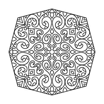 Schwarzweiss-mandalazeichnung