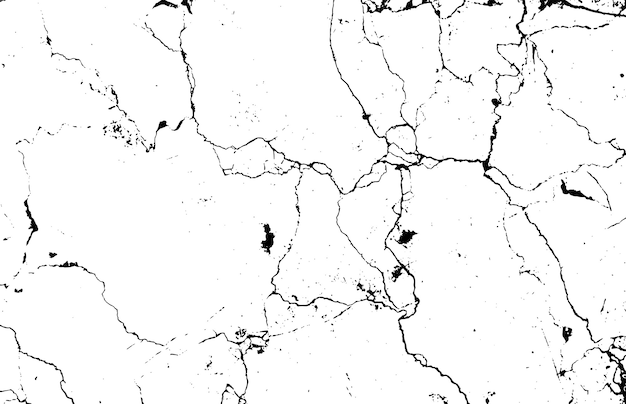 Schwarzweiss-marmor knackt einfache textur.