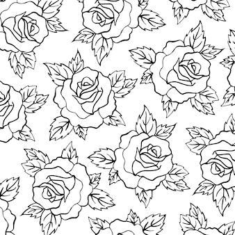 Schwarzweiss - valentine pattern background
