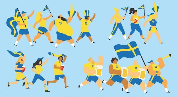 Schweden fans feiern