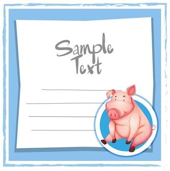 Schwein auf blue note