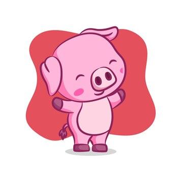 Schwein beim aufwärmen am morgen