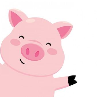 Schwein lächelnd