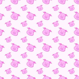 Schwein nahtlose muster