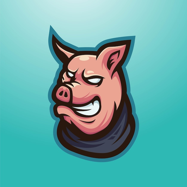 Schwein trägt einen schal zum spielen