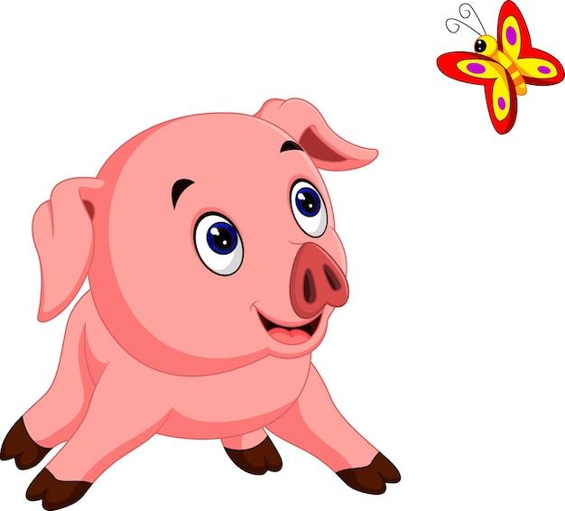 Schweinekarikatur