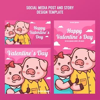 Schweinepaar social media post und geschichte