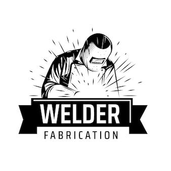 Schweißer-logo-vorlage mit details