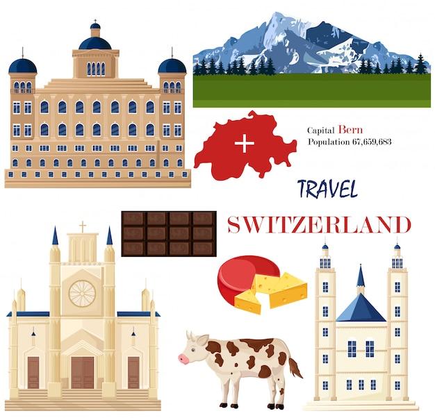 Schweiz architektur und symbolische elemente
