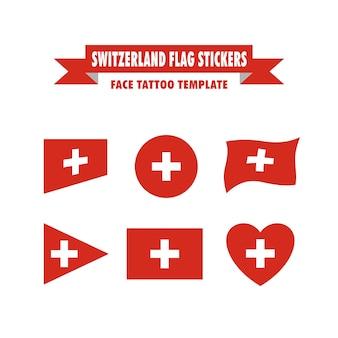 Schweiz flagge vorlage