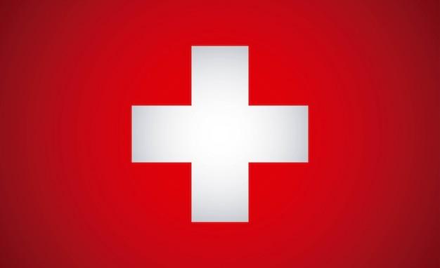 Schweizer design über roter hintergrundvektorillustration